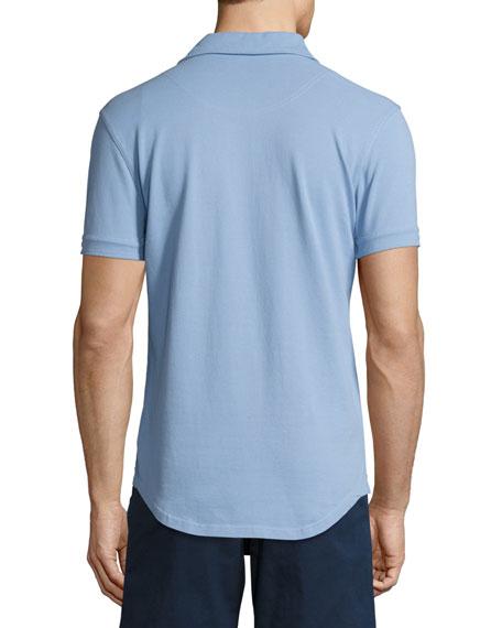 Sebastian Tailored Polo Shirt, Blue