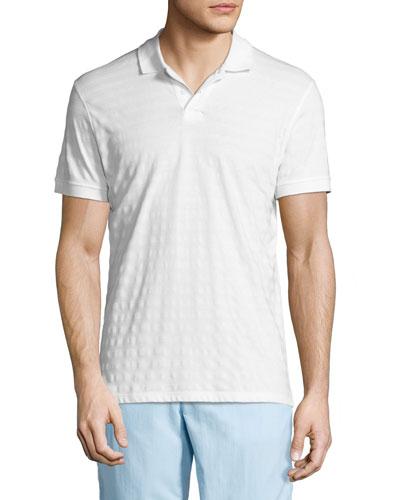 Jarret Striped Piqué Polo Shirt, White