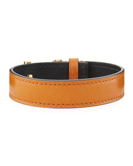 Men's Leather T-Buckle Wrap Bracelet