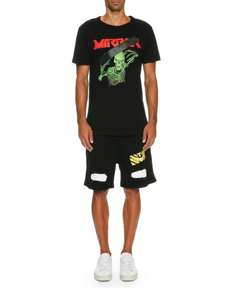 Spray-Paint Logo Sweat Shorts, Black
