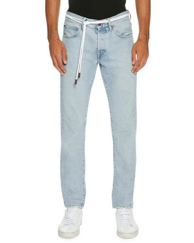 men 39 s jeans skinny distressed stretch at bergdorf goodman. Black Bedroom Furniture Sets. Home Design Ideas