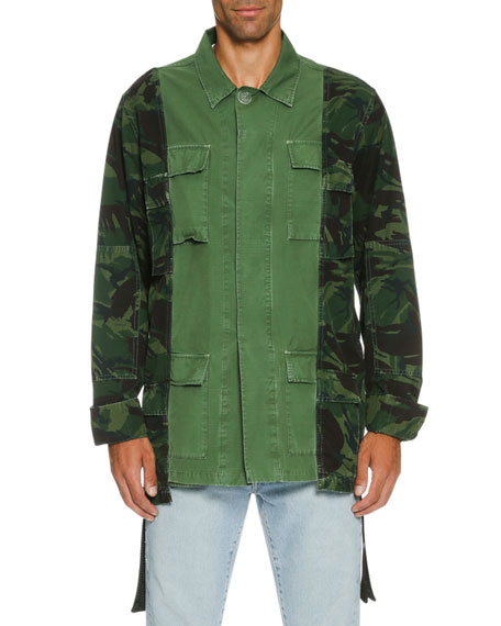 Camo Over-Dyed Field Jacket, Olive