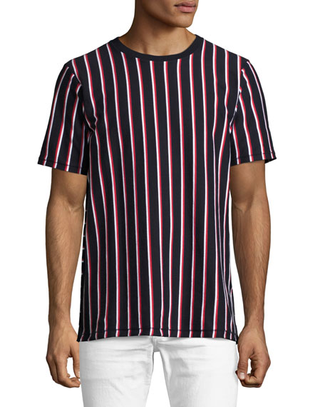 Disrupted Striped T-Shirt, Navy/White/Red