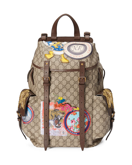 4ae794c8021 Gucci Soft GG Supreme Backpack with Patches