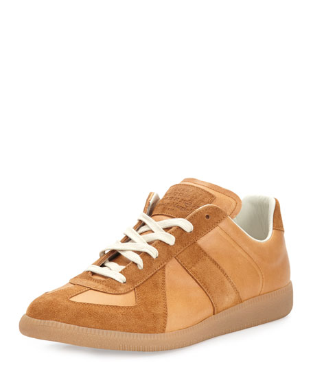 Maison Margiela Men's Replica Suede & Leather Low-Top