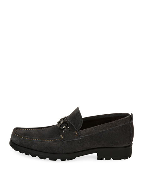 Suede Lug-Sole Loafer