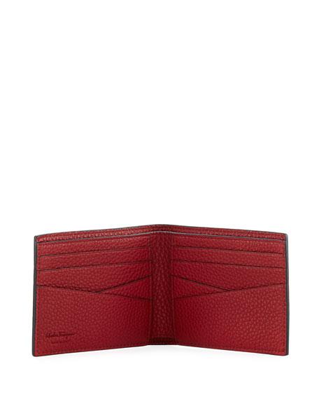 Firenze Leather Bi-Fold Wallet, Red