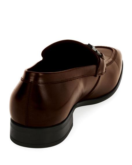 Men's Gancini-Bit Leather Loafer, Brown