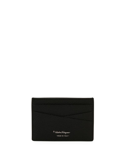 Firenze Leather Card Case, Black