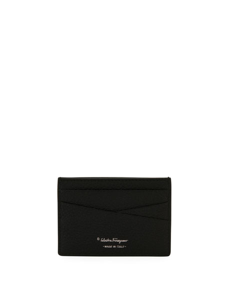 Men's Firenze Leather Card Case, Black