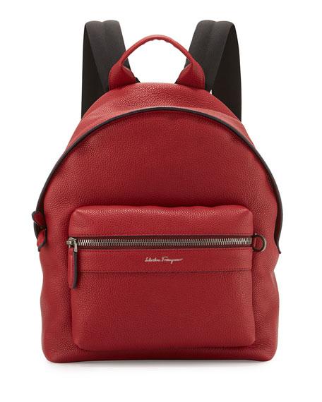 Salvatore Ferragamo Men s Firenze Grained Leather Backpack a2aff66ace509