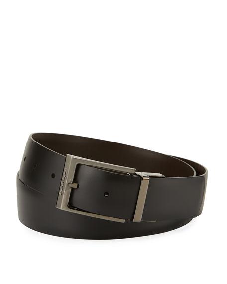Paloma Reversible Leather Belt, Brown/Black