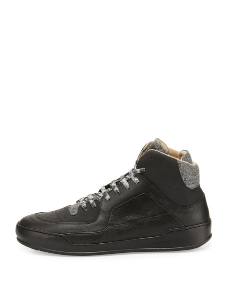 Men's 80s Leather Basketball High-Top Sneakers
