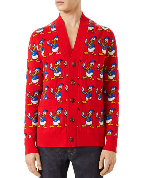 c22e10d642a Gucci Donald Duck Cardigan Sweater