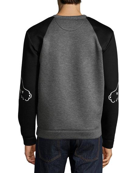 Two-Tone Panther Sweatshirt, Gray