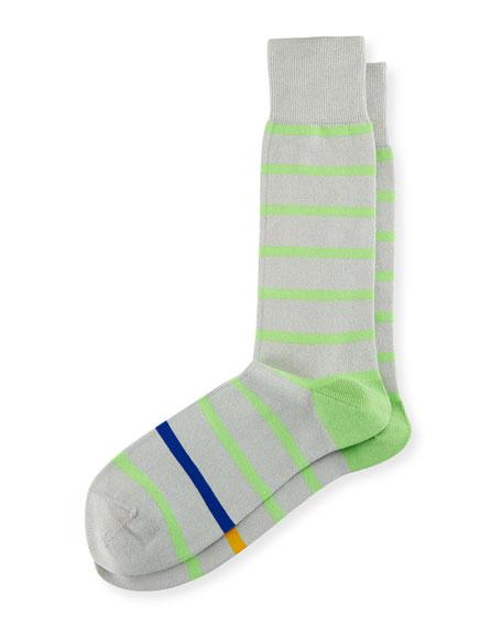 Simple Neon Striped Socks
