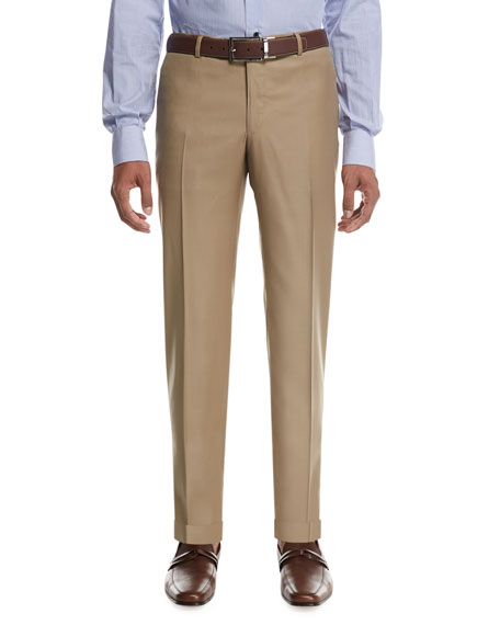 Aquaspider Wool Dress Pants, Tan