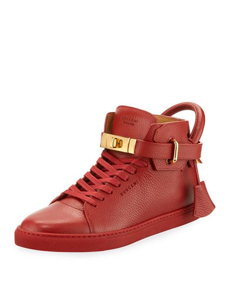 100mm High-Top Sneaker, Red