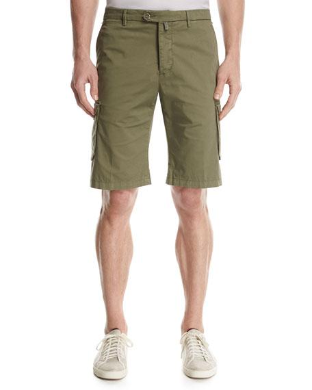 Twill Cargo Shorts, Olive
