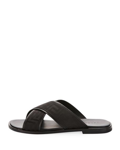 e2dea867f Versace Men s Greek Key Crisscross Sandal