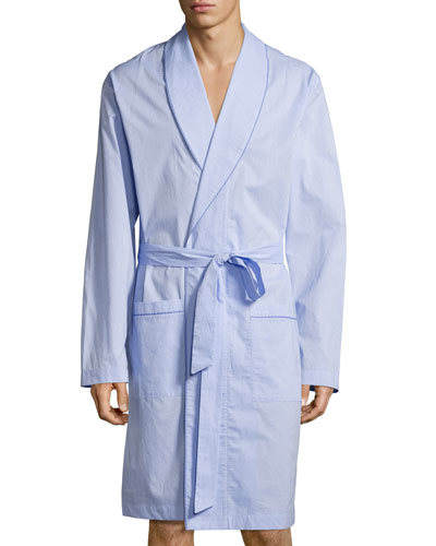 Ryan Collection Chambray Woven Robe, Blue