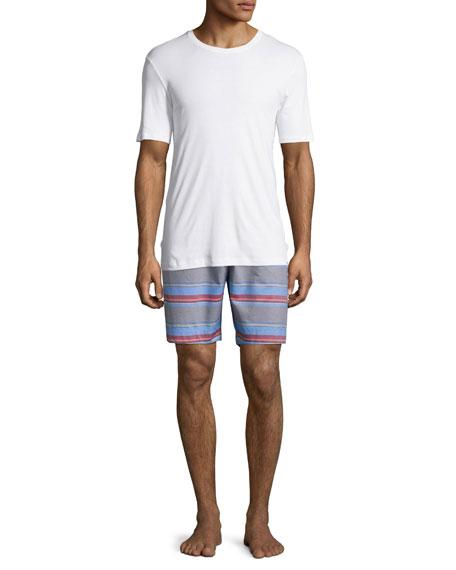 Evan Striped Drawstring Shorts, Multicolor