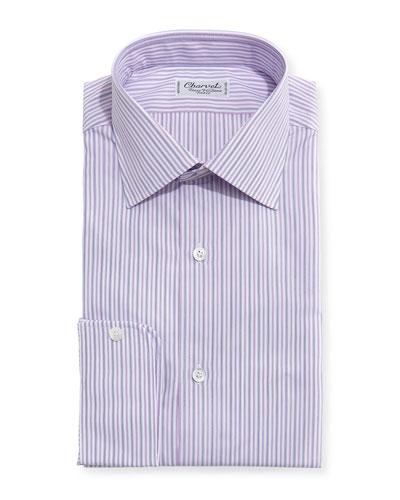 Striped Dress Shirt, Pink/Lavender