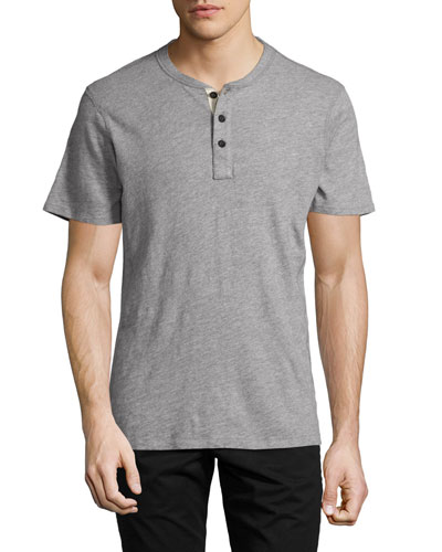Men's Standard Issue Short-Sleeve Henley T-Shirt