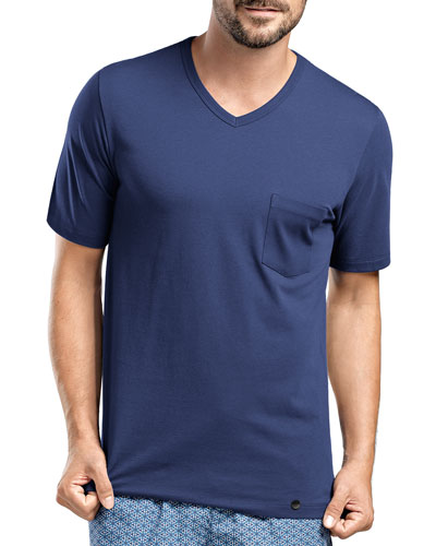 Harvey V-Neck T-Shirt, Dark Blue