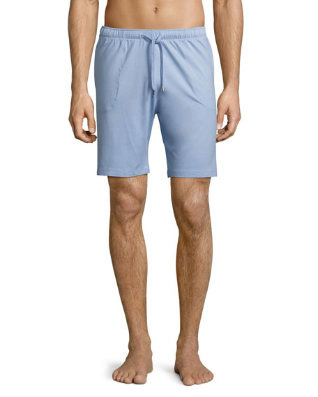 Derek Rose Basel Jersey Lounge Shorts, French Blue