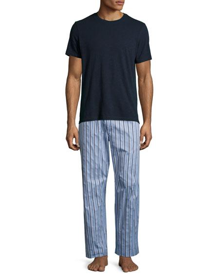 Mayfair 70 Striped Lounge Pants, Light Blue
