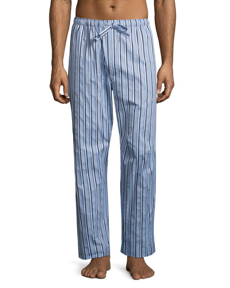 Derek Rose Mayfair 70 Striped Lounge Pants, Light