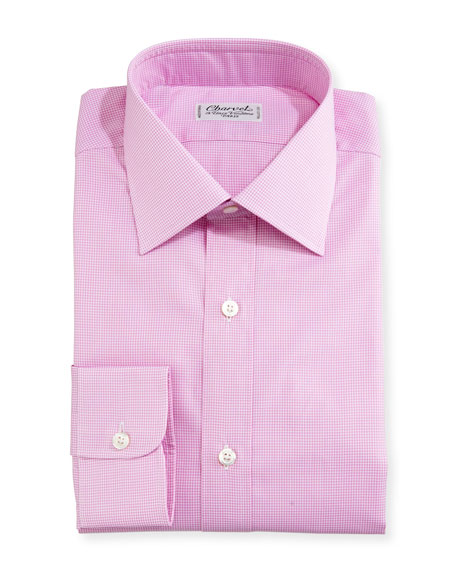 Mini-Check Dress Shirt, Pink