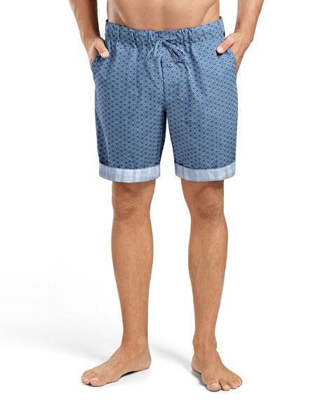 Harvey Printed Woven Shorts, Blue Multi
