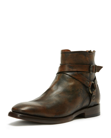 Frye Men's Weston Leather Harness Boot, Brown