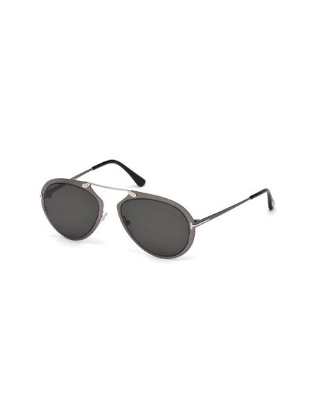 TOM FORD Dashel Aviator Sunglasses, Gunmetal