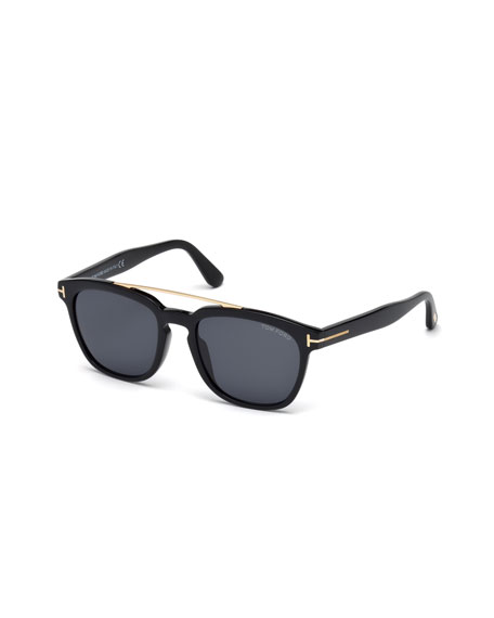 TOM FORD Holt Square Acetate Sunglasses, Black