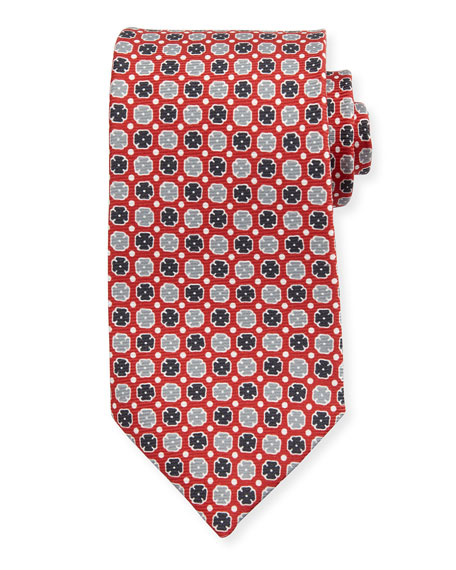 Neat Printed Silk Tie