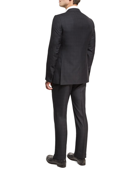 Check Two-Piece Suit, Dark Gray