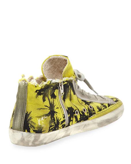 Francy Men's Palm-Print High-Top Sneaker