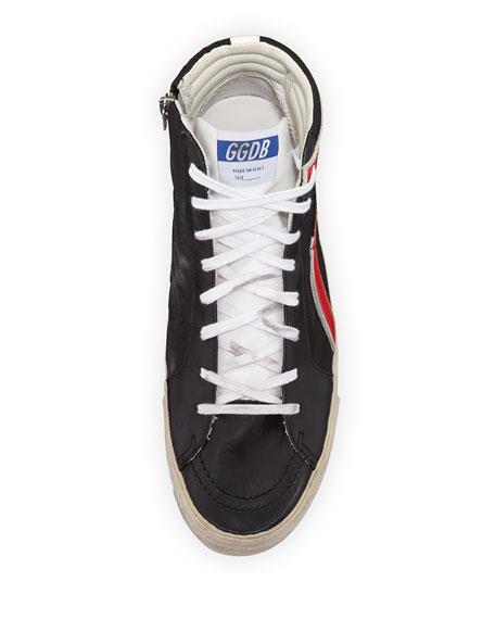 Men's GGDB-Slide Nylon High-Top Sneaker, Black