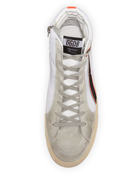 Men's GGDB-Slide Mesh High-Top Sneaker, White
