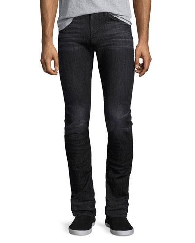 Axl Stretch-Denim Skinny Jeans  Black