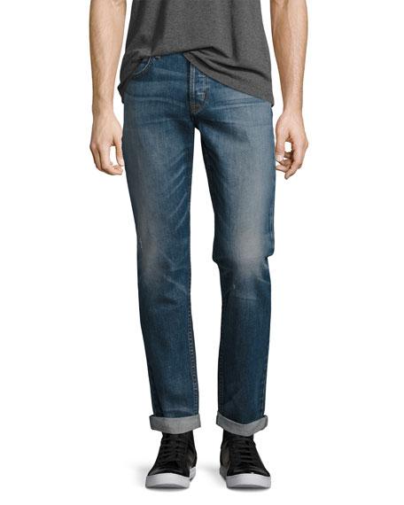 b395205f Hudson Men's Blake Double-Cuff Slim-Straight Jeans, Blue