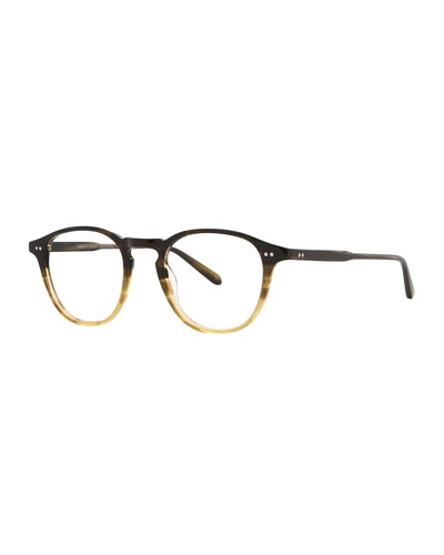 Hampton Square Acetate Optical Frames with Clip-On Sunglasses  Sandalwood Drift