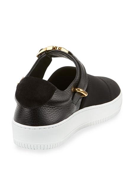 60mm Modern Sport Slip-On Sneaker, Black