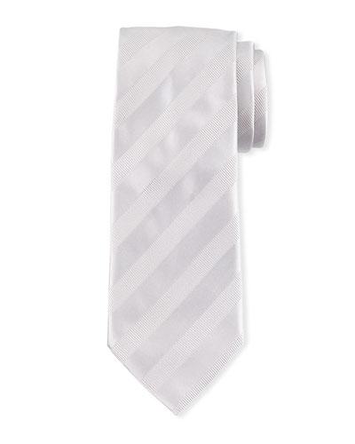 Textured-Stripe Silk Tie