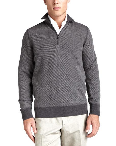 Roadster Half-Zip Cashmere Sweater