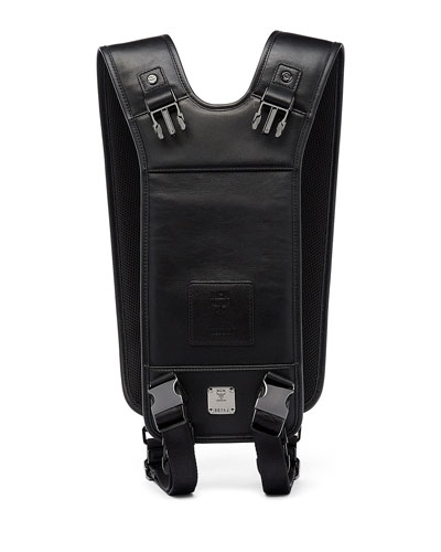 x CR Collection Leather Yoke System Strap Harness for Jet Pack, Black