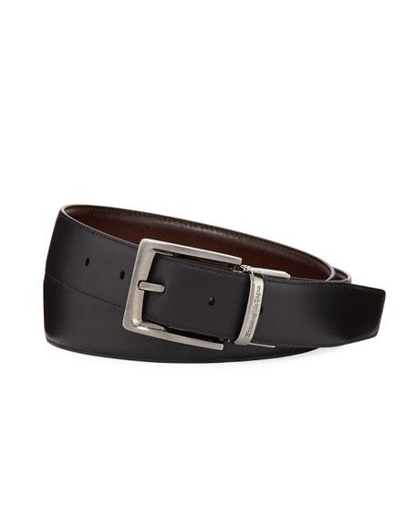 Reversible Burnished Calf Leather Belt